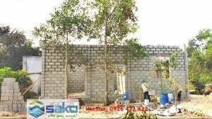 Gạch block xây nhà chống nóng