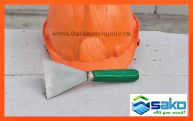 nón xây dựng gạch nhẹ AAC, bay tam giác