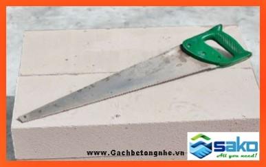 Cưa cắt gạch bê tông nhẹ chưng áp