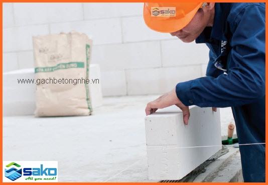 Vữa xây gạch bê tông nhẹ AAC