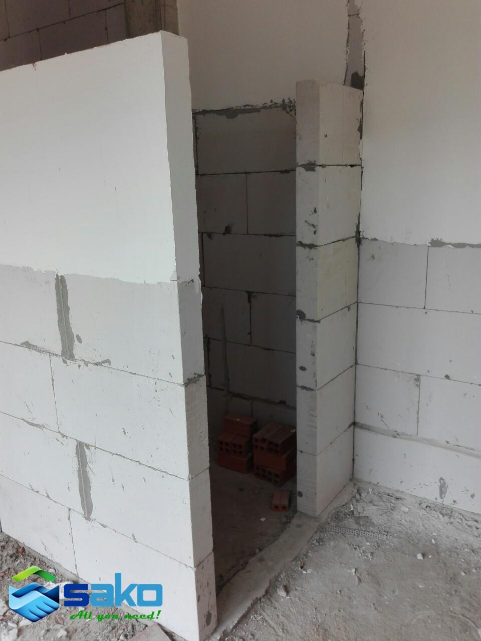 Tô trát khi xây gạch aac có dễ dàng