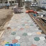 SENTURIA VƯỜN LÀI | Gạch bê tông tự chèn Lục Giác | Dày 10cm, M400 | SAKO VIETNAM