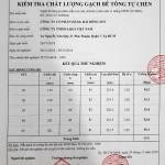 Test gạch sâu Mác 500, Cty Hàng Hải Bông Sen