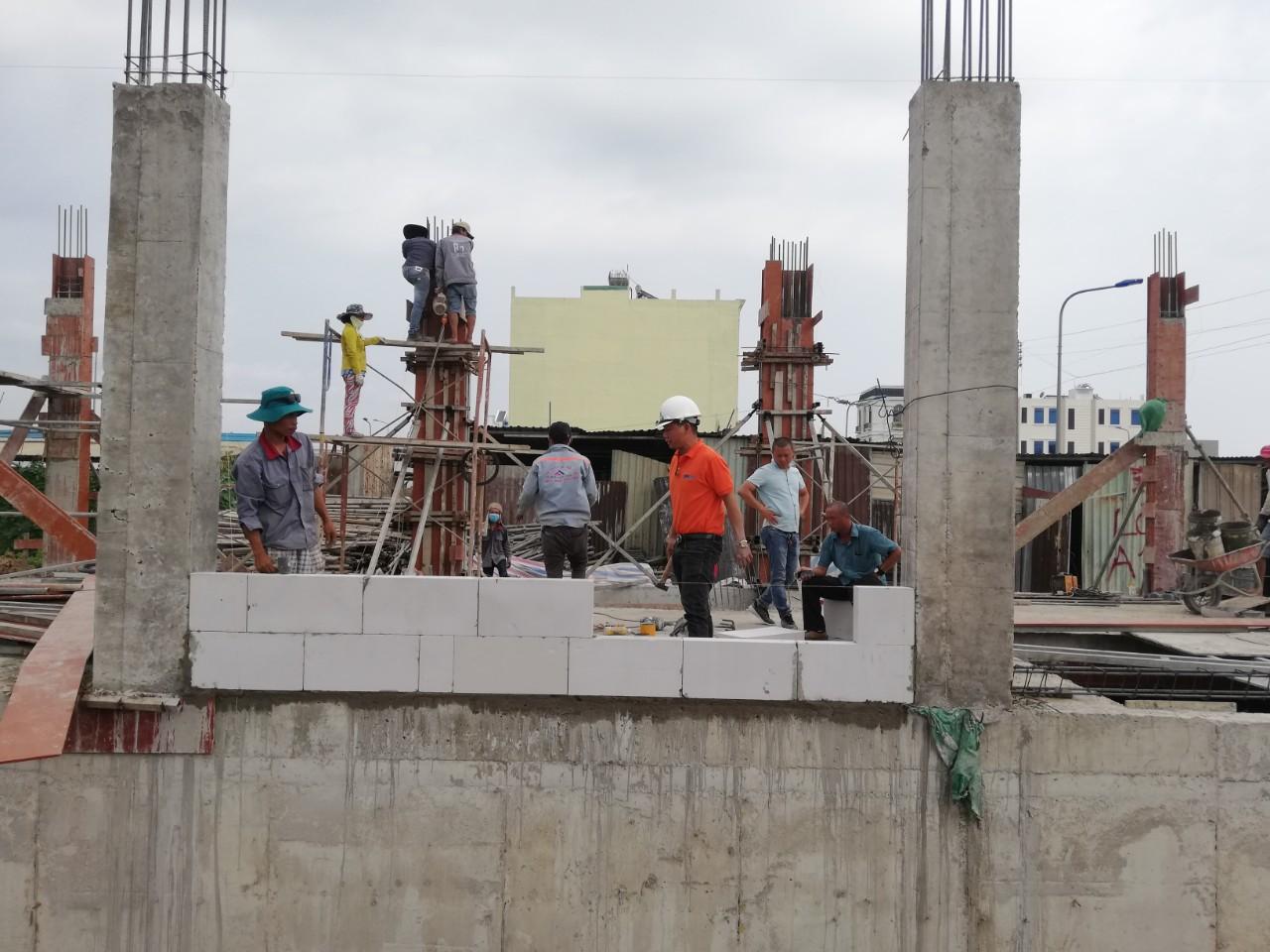 Hướng dẫn xây tường gạch block nhẹ AAC