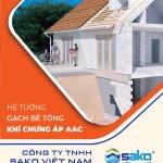 Brochure gạch AAC | SAKO VIETNAM|Đơn vị cấp gạch nhẹ AAC uy tín tại TP.HCM