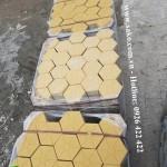 Gạch lục giác Vàng, dày 6cm, Cấp cho dự án Tại Bình Dương