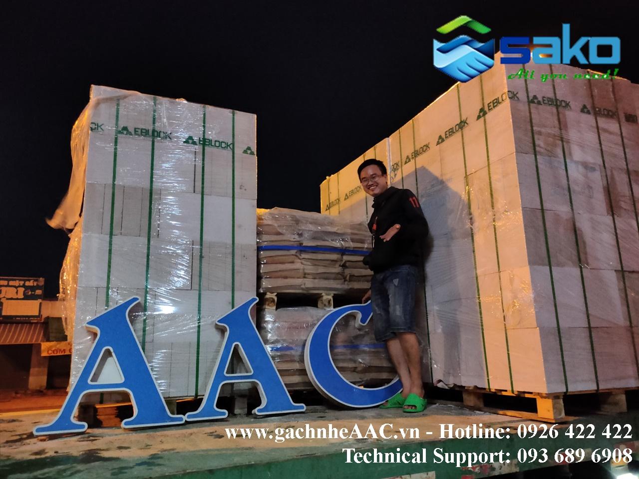Bao gia gach AAC gia re va tam tuong san panel AAC tai Long An, Can Tho, Kien Giang, Soc Trang, Tra Vinh, Bac Lieu, Binh Duong, Binh Phuoc