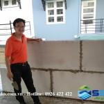 Kỹ sư Công Ty SAKO Việt Nam hướng dẫn thi công tấm tường lắp ghép siêu nhẹ tại Quận 2, TP.HCM