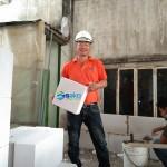 Kỹ sư SAKO Việt Nam hướng dẫn xây gạch nhẹ AAC tại Dự Án Nhà ở ngày 04.06.2020