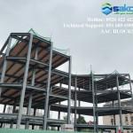 Công trình kết cấu thép sử dụng gạch nhẹ AAC