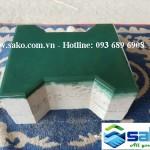 Gạch bê tông tự chèn chữ i màu Xanh, Mác 500, Dày 10cm