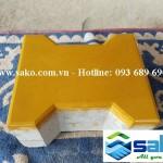 Gạch bê tông tự chèn chữ i - Vàng, Dày 6cm, Mác 300
