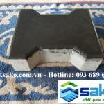 Gạch bê tông tự chèn chữ i - Màu Đen, Mác 300, Dày 6cm