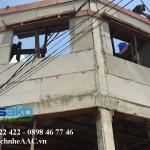 Nhà Phố trong hẻm tại Bình Thạnh sử dụng tấm tường 1500x600x75mm - 1 lõi thép