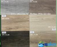 Mẫu sàn nhựa đá vân gỗ SPC cao cấp Châu Âu